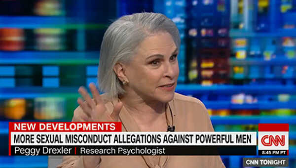 Dr. Peggy Drexler on CNN's Don Lemon discussing powerful men accused of sexual misconduct