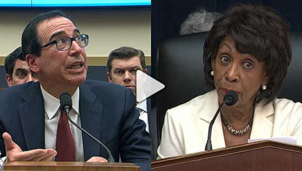"""""""How Maxine Waters stood up to Steven Mnuchin; by Dr. Peggy Drexler"""